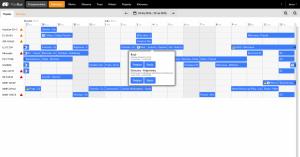 Kalendarz w widoku wykorzystania zasobów