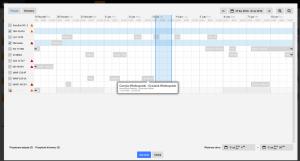 Kalendarz w trybie przypisywania zasobów